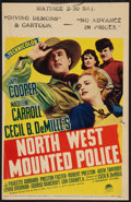 "Movie Posters:Adventure, North West Mounted Police (Paramount, 1940). Midget Window Card (8""X 12.5""). Adventure.. ..."
