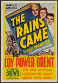 "Movie Posters:Adventure, The Rains Came (20th Century Fox, 1939). Midget Window Card (8"" X11.5""). Adventure.. ..."
