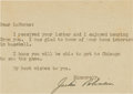Autographs:Others, 1950's Jackie Robinson Signed Letter....