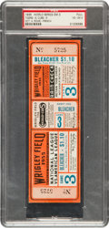 Baseball Collectibles:Tickets, 1935 World Series Game Three Full Ticket PSA VG-EX 4....