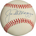 Autographs:Baseballs, 1970's Joe DiMaggio Single Signed Baseball, Graded PSA Mint+9.5....