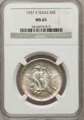 Commemorative Silver: , 1937-S 50C Texas MS65 NGC. NGC Census: (428/529). PCGS Population(612/518). Mintage: 6,637. Numismedia Wsl. Price for prob...