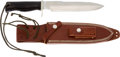 Edged Weapons:Knives, Special Order Randall Model 14 Attack Knife with Scabbard....