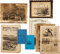 Miscellaneous:Ephemera, Lot of Assorted Ephemera and Picture Frames.... (Total: 5 )