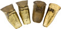 Antiques, Lot of Four Brass Stirrups.... (Total: 4 Items)
