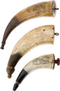 Arms Accessories:Horns, Lot of 3 Powder Horns.... (Total: 3 Items)