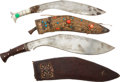 Edged Weapons:Knives, Lot of Two Kukris with Scabbards.... (Total: 2 )