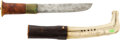 Edged Weapons:Knives, Antique Scandinavian Hunting Knife with Scabbard....