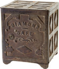 Antiques:Decorative Americana, Antique Cast Iron Diamond Safe....