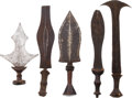 Edged Weapons:Knives, Lot of Five Assorted African Ethnographic Weapons.... (Total: 5 Items)