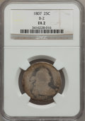 Early Quarters, 1807 25C Fair 2 NGC. B-2. NGC Census: (7/171). PCGS Population(13/301). Mintage: 220,643. Numismedia Wsl. Price for proble...