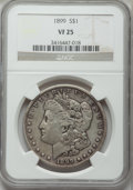Morgan Dollars: , 1899 $1 VF25 NGC. NGC Census: (8/7729). PCGS Population (14/10374).Mintage: 330,846. Numismedia Wsl. Price for problem fre...
