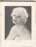 "Movie/TV Memorabilia:Memorabilia, A Jean Harlow and Others Signed Program from ""Hell's Angels,""1930...."
