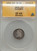 Bust Dimes, 1836 10C --Cleaned--XF45 ANACS. Details. NGC Census: (6/175). PCGS Population (16/165). Mintage: 1,190,000. Numismedia Wsl. ...