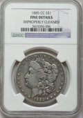 Morgan Dollars, 1885-CC $1 -- Improperly Cleaned -- NGC Details. Fine. NGC Census: (4/8677). PCGS Population (10/17885). Mintage: 228,0...
