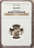 Mercury Dimes: , 1931-D 10C MS65 Full Bands NGC. NGC Census: (129/60). PCGS Population (322/202). Mintage: 1,260,000. Numismedia Wsl. Price ...