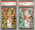Basketball Cards:Singles (1980-Now), 1997 Ultra Stars Michael Jordan Regular & Gold #1 PSA Gem MT 10Pair (2)....