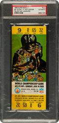 """Football Collectibles:Tickets, 1968 Super Bowl II Green Bay Packers Vs. Oakland Raiders Full Ticket, PSA """"Authentic.""""..."""