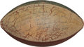 Football Collectibles:Balls, 1962 Packers vs. Bears Team Signed, Game Used Football - Presented to Fuzzy Thurston. ...