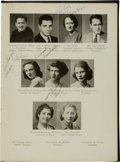 Football Collectibles:Publications, 1945 Vince Lombardi Signed St. Cecilia High School Yearbook. ...