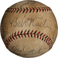 Autographs:Baseballs, Circa 1930 New York Yankees Partial Team Signed Baseball....