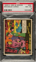 Non-Sport Cards:Singles (Pre-1950), 1936 R60 G-Men & Heroes of The Law #281 PSA NM-MT 8 - PopThree, None Higher! ...