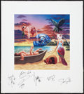 """Movie Posters:Musical, Journey: Trial by Fire (Sony, 1996). Autographed Album Promo Poster (25"""" X 28""""). Musical.. ..."""