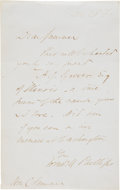 Autographs, [Abolition]. Wendell Phillips Autograph Letter Signed....