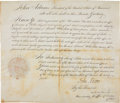 "Autographs:U.S. Presidents, John Adams Appointment Signed ""John Adams"" as president...."