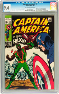 Captain America #117 (Marvel, 1969) CGC NM 9.4 Off-white to white pages