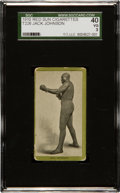 Boxing Cards:General, 1910 T226 Red Sun Jack Johnson SGC SGC 40 VG 3 - One of Two SGCGraded To Date! ...