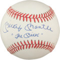 "Autographs:Baseballs, 1980's Mickey Mantle ""The Mick"" Single Signed Baseball,PSA/DNA 8.5...."