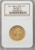 Liberty Eagles, 1842 $10 Small Date AU55 NGC....
