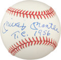 "Autographs:Baseballs, 1980's Mickey Mantle ""T.C. 1956"" Single Signed Baseball, PSA/DNA 8.5...."