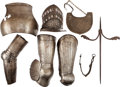 Antiques:Antiquities, Lot of Eight Assorted Armor Elements.... (Total: 8 Items)