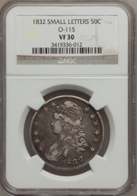 1832 50C Small Letters VF30 NGC. O-115. NGC Census: (37/1694). PCGS Population (59/1815). Mintage: 4,797,000. Numismedia...