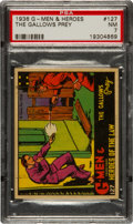 Non-Sport Cards:Singles (Pre-1950), 1936 R60 G-Men & Heroes of The Law #127 Scarcity PSA 7 - PopFour, None Higher!...