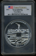 Modern Bullion Coins, 2011 25C Gettysburg Five Ounce Silver, First Strike MS69 ProoflikePCGS. PCGS Population (4988/0). NGC Census: (0/0). The...