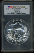 2011 25C Glacier National Park Five Ounce Silver, First Strike MS69 Prooflike PCGS. PCGS Population (3672/0). NGC Census...