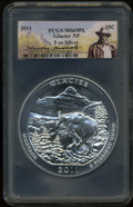 2011 25C Glacier National Park Five Ounce Silver MS69 Prooflike PCGS. PCGS Population (1995/0). NGC Census: (0/0). The i...