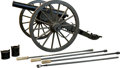 Long Guns:Muzzle loading, Superb Full Scale Replica 3-Inch Ordnance Cannon Complete withCarriage, Limber and Accessories....