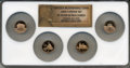 Proof Lincoln Cents, 2009-S 1C Set of Four Lincoln Bicentennial Cents PR70 Red Ultra Cameo NGC. This Set Includes: Early Childhood, Formative Ye... (Total: 4 coins)