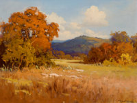 ROBERT WILLIAM WOOD (American, 1889-1979) Fall Landscape Oil on canvas 12 x 16 inches (30.5 x 40