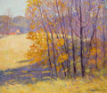 Texas:Early Texas Art - Regionalists, HAROLD ARTHUR RONEY (American, 1899-1986). Autumn Landscape.Oil on canvas. 18 x 21 inches (45.7 x 53.3 cm). Signed lowe...