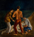 Texas:Early Texas Art - Modernists, FLORA BLANC REEDER (American, 1916-1995). The Drowning,1942. Oil on canvas. 22 x 24 inches (55.9 x 61.0 cm). Signed low...