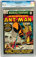 Bronze Age (1970-1979):Adventure, Marvel Feature #4 Ant-Man (Marvel, 1972) CGC NM- 9.2 Off-white to white pages....