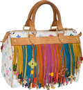 Luxury Accessories:Bags, Louis Vuitton White Monogram Multicolore Fringe Speedy Show Bag.... (Total: 2 Items)