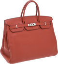 Luxury Accessories:Bags, Hermes 40cm Coq de Roche Clemence Leather Birkin Bag with PalladiumHardware. ... (Total: 2 Items)