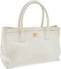 Luxury Accessories:Bags, Chanel White Caviar Leather Classic Cerf Tote with Gold Hardware.... (Total: 2 Items)