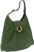 Luxury Accessories:Bags, Bulgari Bright Green Leather Chandra Hobo Bag. ... (Total: 2 Items)